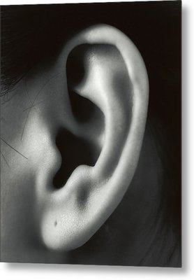 Ear Metal Print by Cristina Pedrazzini
