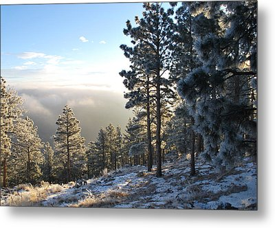 Early Am Above Boulder-photo Metal Print