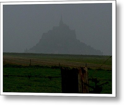 Metal Print featuring the photograph Early Am Approach To Le Mont-michel by Frank Wickham