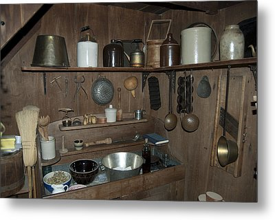 Early American Utensils Metal Print by Michael Peychich