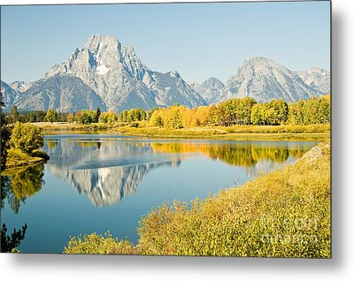 Early Autumn At Oxbow Bend Metal Print by Bob and Nancy Kendrick