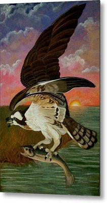 Early Catch-sunrise On The Ogeechee Metal Print by Teresa Grace Mock