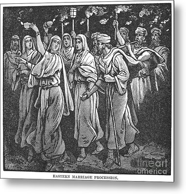 Early Christian Marriage Metal Print by Granger