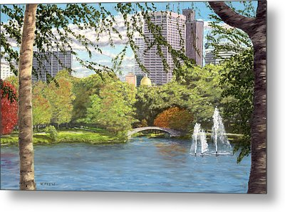 Early Color On Esplanade Metal Print by William Frew