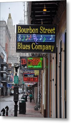 Early Morning Bourbon Street Metal Print by Bill Cannon