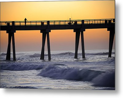 Early Morning Catch Metal Print