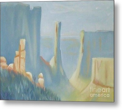 Early Morning In The Canyon Metal Print by Debra Piro