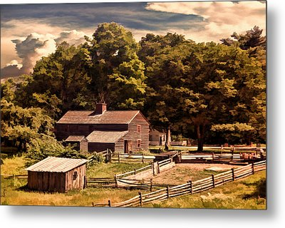 Early Settlers Metal Print by Lourry Legarde