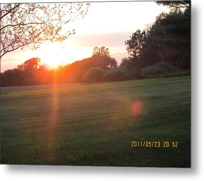 Metal Print featuring the photograph Early Spring Sunset by Tina M Wenger