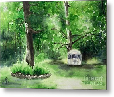 Metal Print featuring the painting Early Summer At The Geddes Farm --ann Arbor Michigan by Yoshiko Mishina