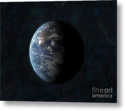 Earth Metal Print by Carbon Lotus