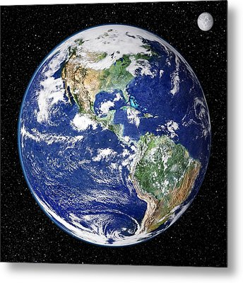 Earth From Space, Satellite Image Metal Print by Nasa Goddard Space Flight Center (nasa-gsfc)