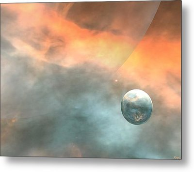 Metal Print featuring the digital art Earth by John Pangia