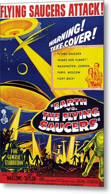 Earth Vs. The Flying Saucers, Joan Metal Print by Everett