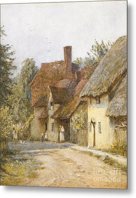 East Hagbourne Berkshire Metal Print by Helen Allingham