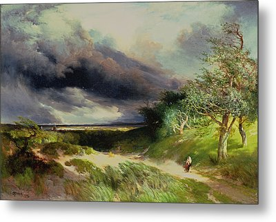 East Hamptonlong Island Sand Dunes Metal Print by Thomas Moran