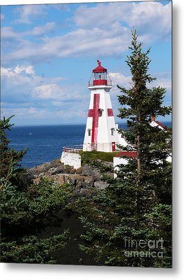 East Quoddy Head Lighthouse Metal Print by Jeanne  Woods