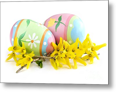 Easter Eggs Metal Print by Elena Elisseeva