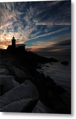 Eastern Point Lighthouse At Sunrise Metal Print by Dave Sribnik