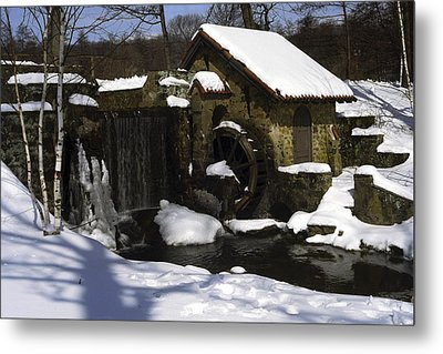 Eastern University Waterwheel Historic Place Metal Print