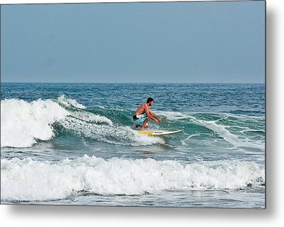 Metal Print featuring the photograph Easy Surfing  by Ann Murphy