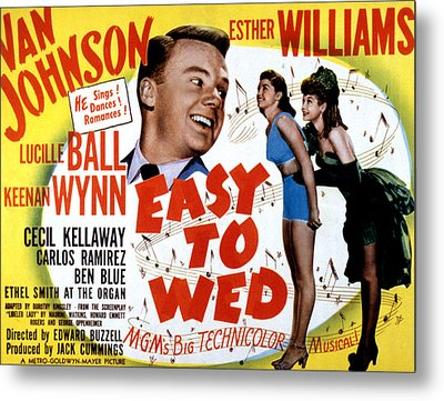 Easy To Wed, Van Johnson, Esther Metal Print by Everett