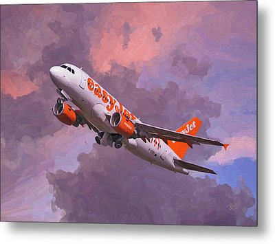 easyJet Airbus A319 take off Metal Print