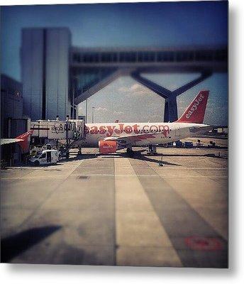 #easyjet #gatwick #airplane #airport Metal Print by Abdelrahman Alawwad
