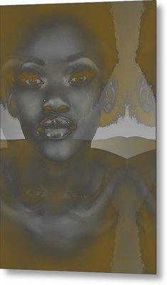 Ebony Metal Print by Naxart Studio