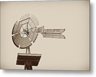 Eclipse Windmill 3578 Metal Print by Michael Peychich