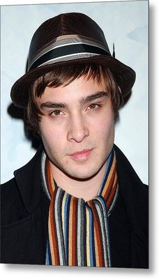 Ed Westwick At Arrivals For Opening Metal Print by Everett