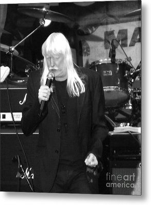 Metal Print featuring the photograph Edgar Winter by Gary Brandes
