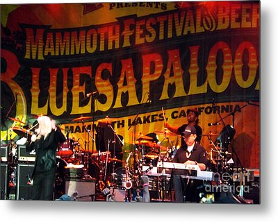 Metal Print featuring the photograph Edgar Winter Group 2012 by Gary Brandes