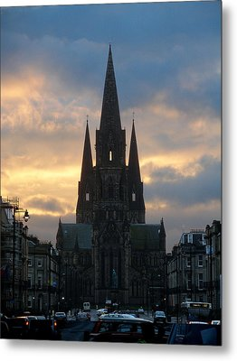 Edinburgh Cathedral Metal Print by Rod Jones