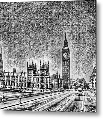 Edit Of The Day, #editeoftheday #london Metal Print by Abdelrahman Alawwad