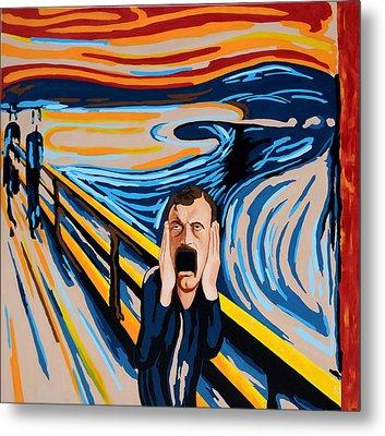 Edvard Munch - The Scream Metal Print by Dennis McCann