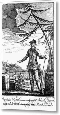 Edward Teach (?-1718) Metal Print by Granger