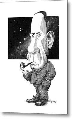 Edwin Hubble, Us Astronomer Metal Print by Gary Brown