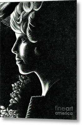 Effie Trinket Metal Print by Crystal Rosene