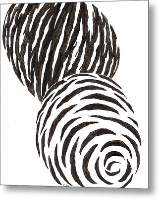 Egg Drawing 010006 Metal Print
