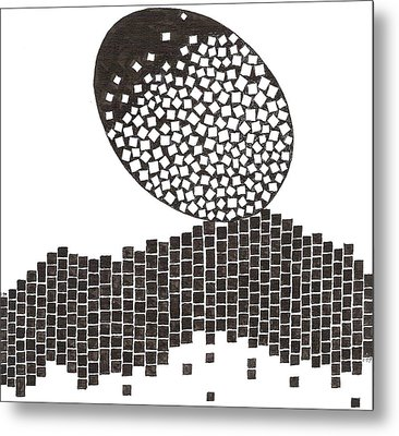 Egg Drawing 019901 Metal Print