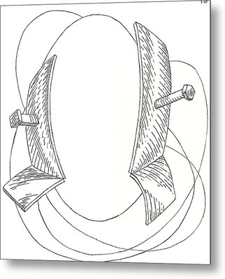 Egg Drawing 030005 Metal Print