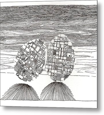 Egg Drawing 039620 Metal Print