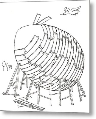 Egg Drawing 049901 Metal Print