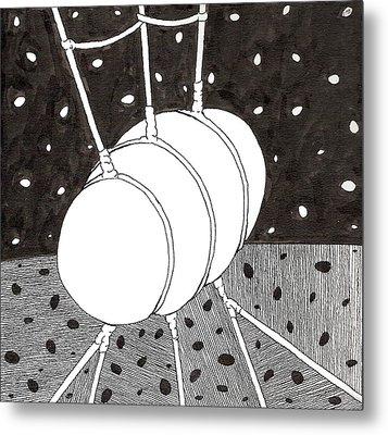 Egg Drawing 059836 Metal Print
