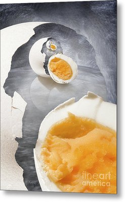 Egg In A Egg In A Metal Print by Johnny Hildingsson
