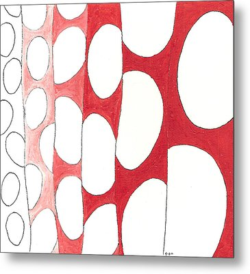 Egg Shower Curtain Metal Print by Phil Burns