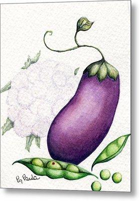 Eggplant Surprise Metal Print