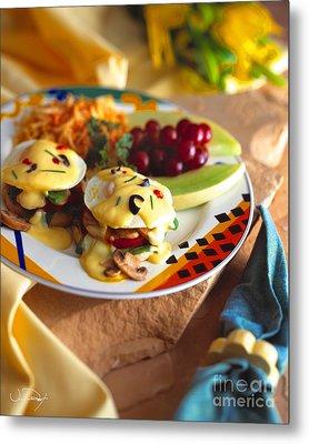 Eggs Benedict Breakfast Metal Print by Vance Fox