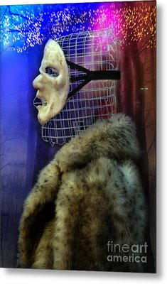 Ego Mask In Winter Wrappings Metal Print by Rosa Cobos
